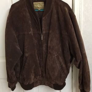 Men's Boston Harbour leather suede jacket